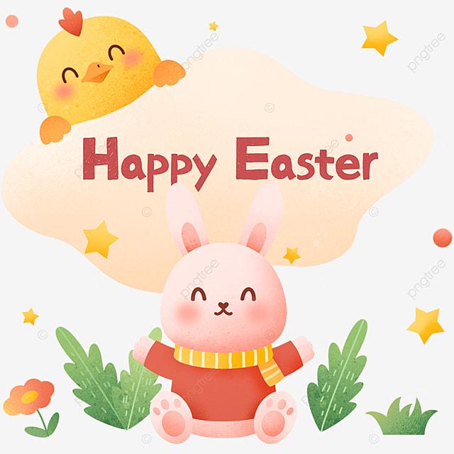 happy easter cartoon happy bunny