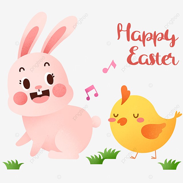 happy easter cute animals