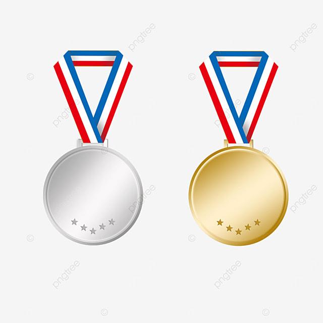 minimalistic gold medal model clipart