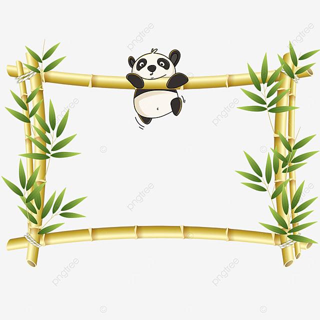 panda bamboo flower border climbing bamboo pole