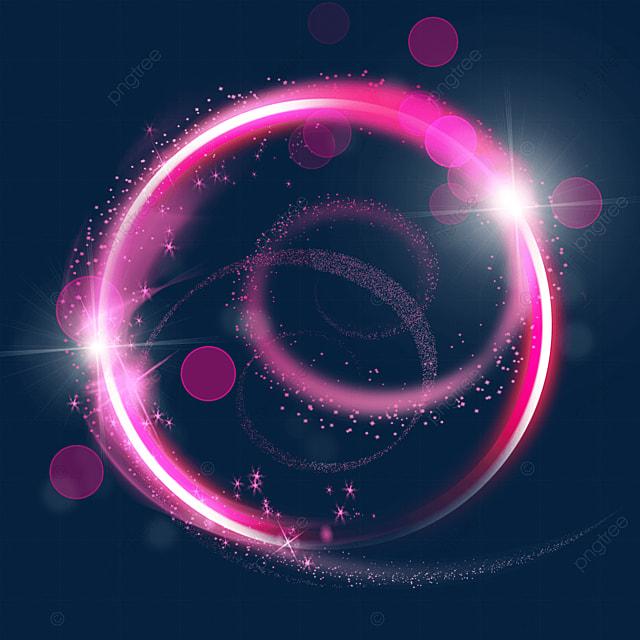 pink grainy magic wand aperture lighting effect