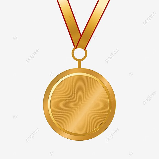 pure metal texture gold medal clipart