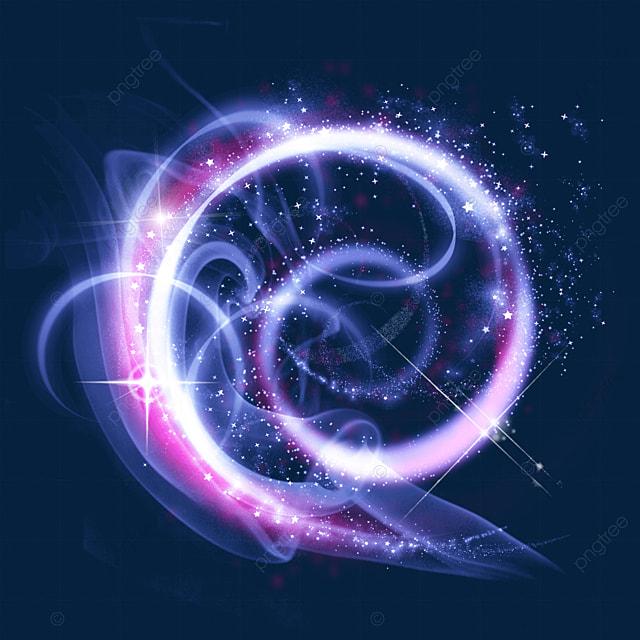 purple and pink winding magic wand aperture light effect