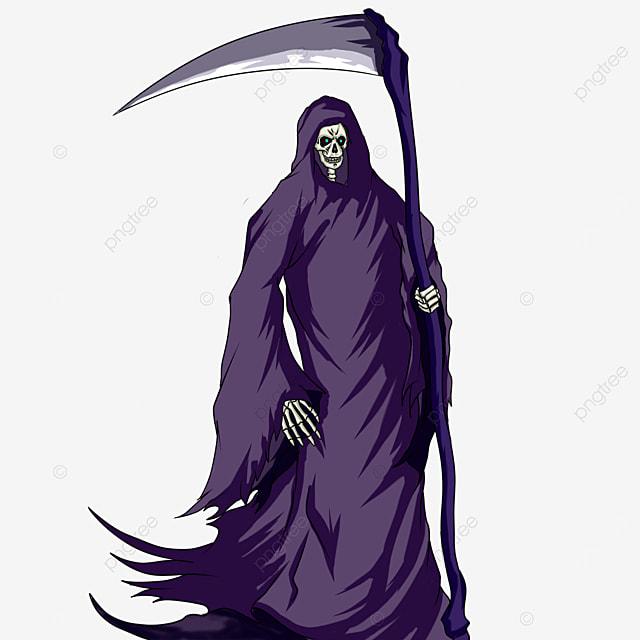 purple robe grim reaper clip art