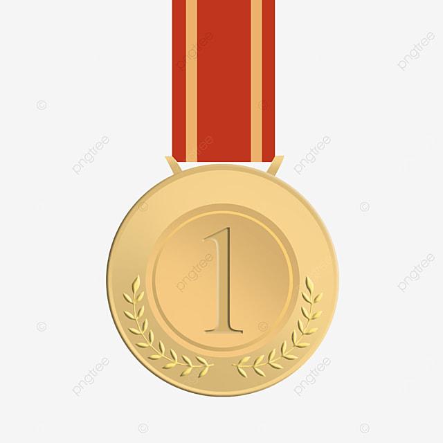 red ribbon metal medal pattern
