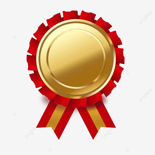 ribbon metal texture gold medal clip art