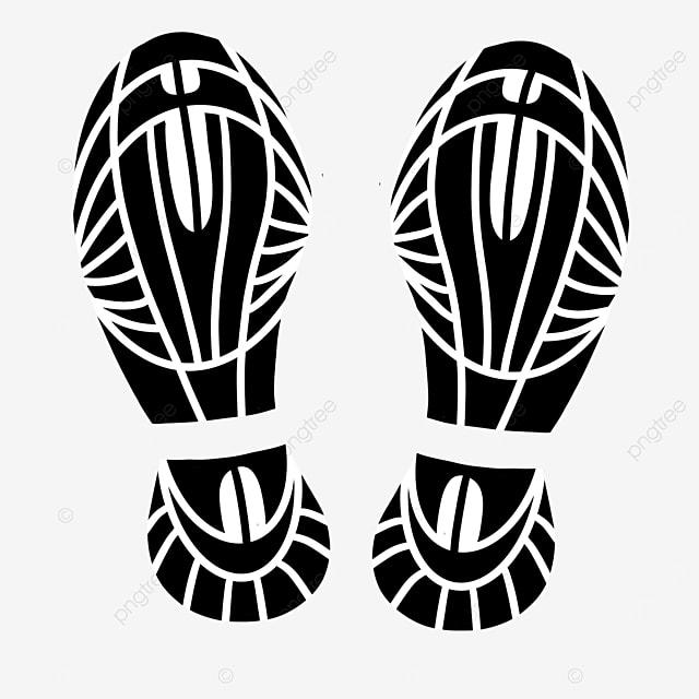 shoe print clip art casual shoes