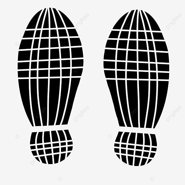 shoe print clip art striped shoe print