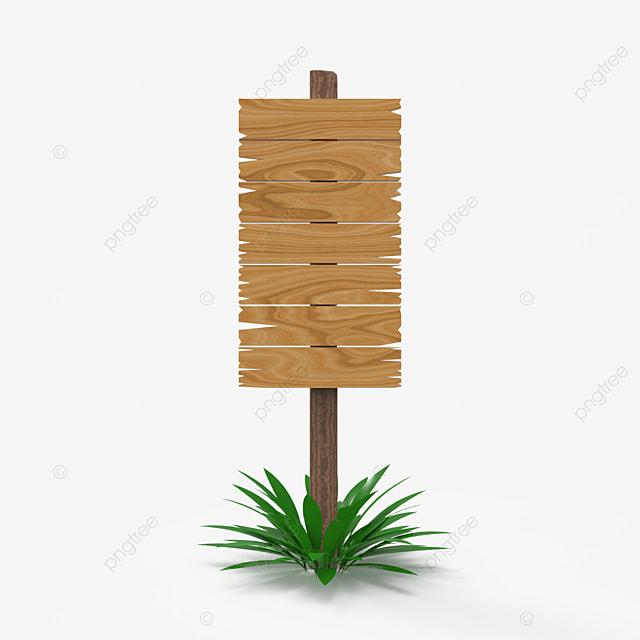 single pole large wood sign post