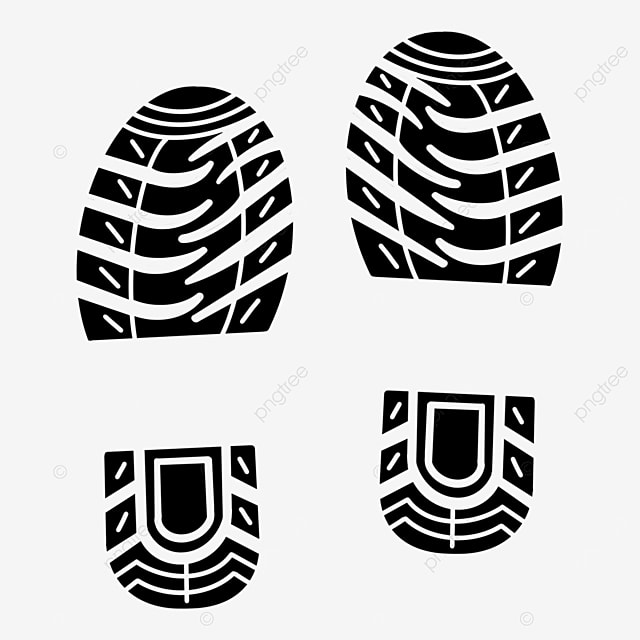 sneaker print black and white clipart