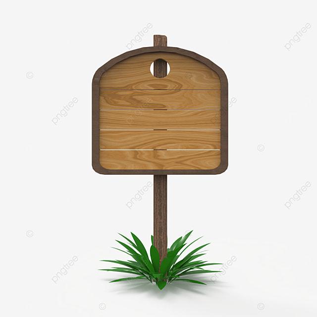 unique single wooden sign post