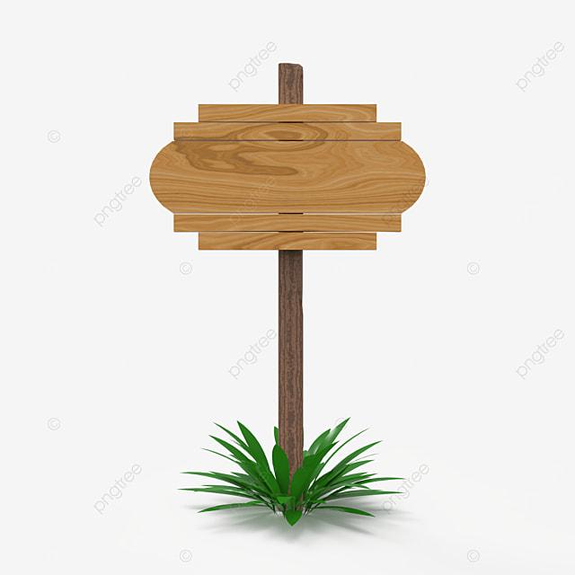 wooden frame signboard single pole