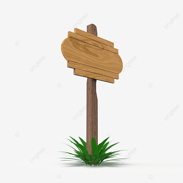 wooden signboard frame side view