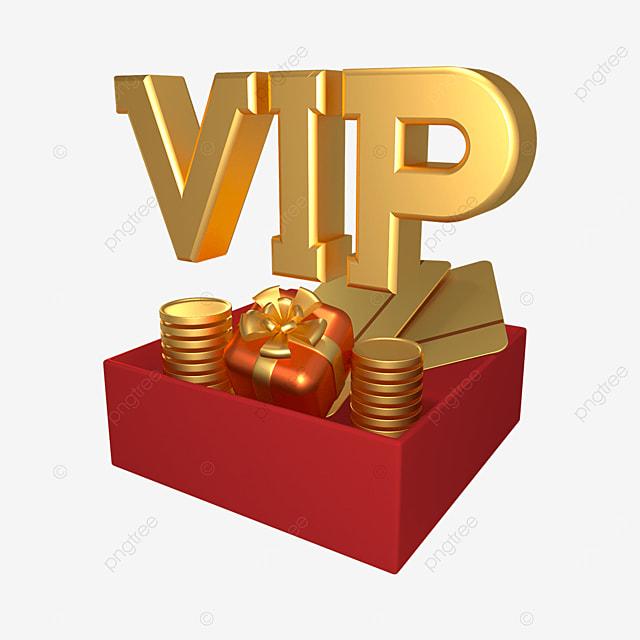 3d golden vip gift box