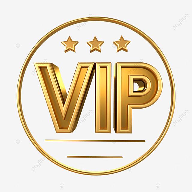 3d metal vip badge