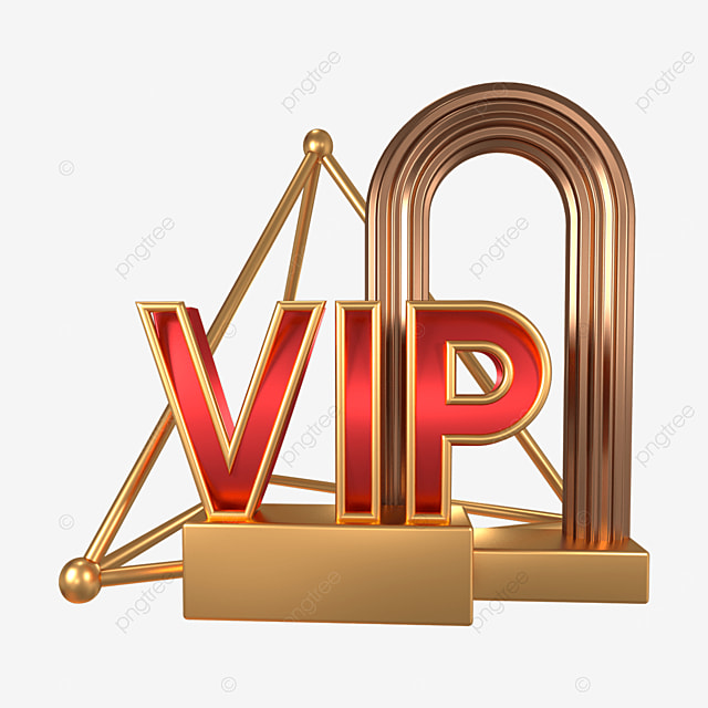 3d red gold vip