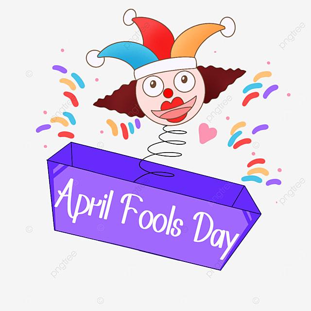 april fools day clown toy box