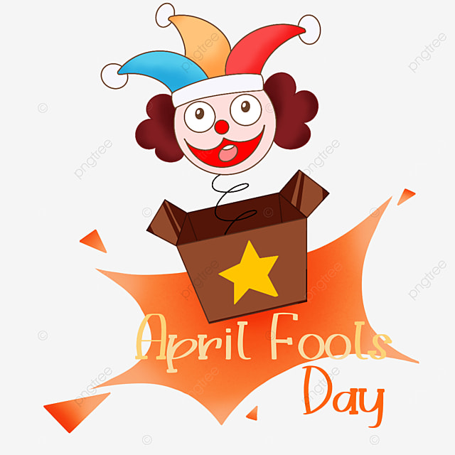 april fools day spring clown toy box