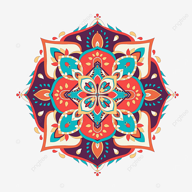 beautiful mysterious abstract mandala decoration