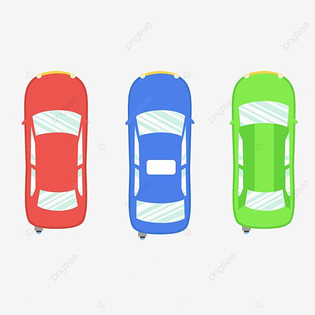 car sports car top view