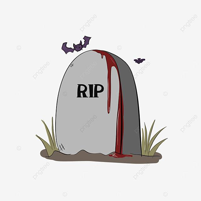 cartoon horror bleeding tombstone