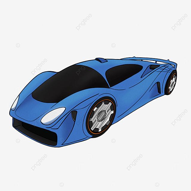 cartoon style sports car clipart car