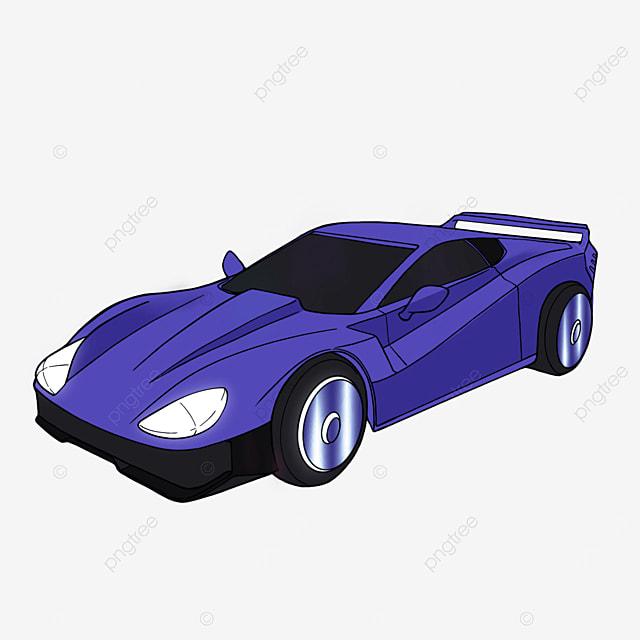 cartoon style sports car clipart