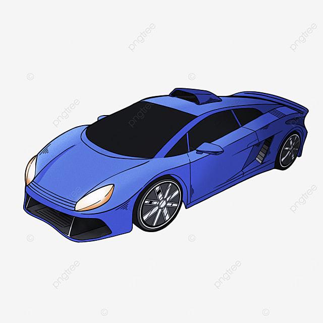 cartoon style sports car clipart transportation