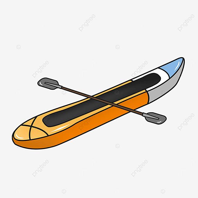 colorblock kayaking clip art