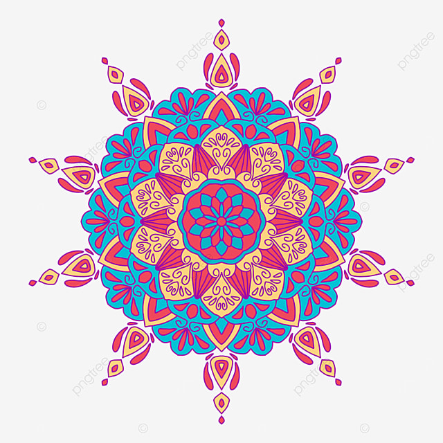 colorful traditional asian pattern mandala ornament abstract texture