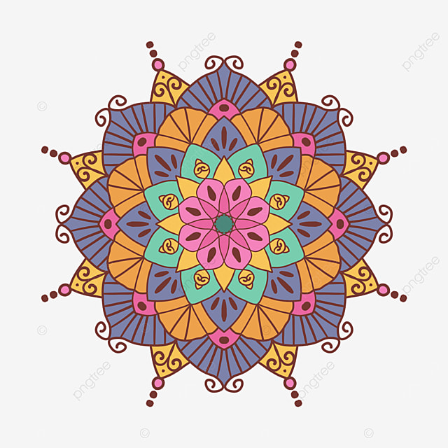 colorful traditional pattern mandala ornament abstract texture