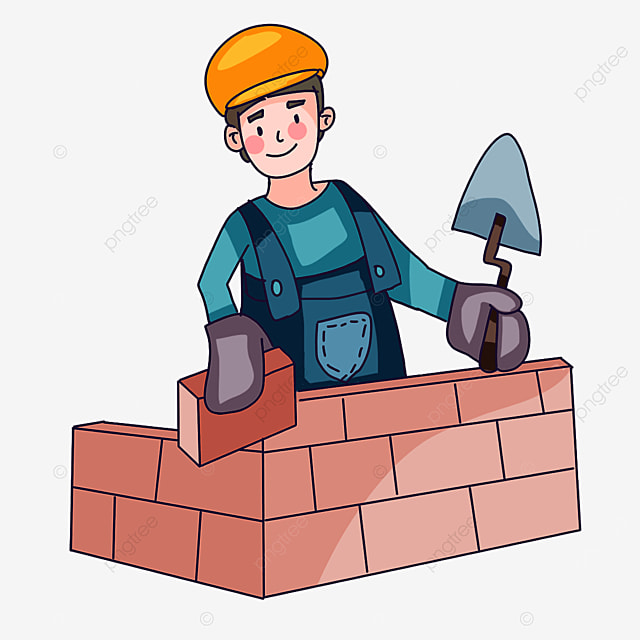 construction worker at work clipart