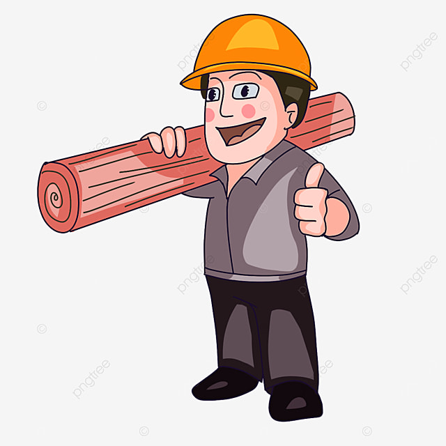 construction worker wearing a hard hat clipart