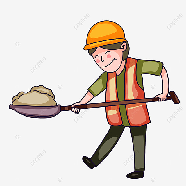 construction workers happy working clipart