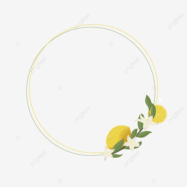 creative circle lemon border
