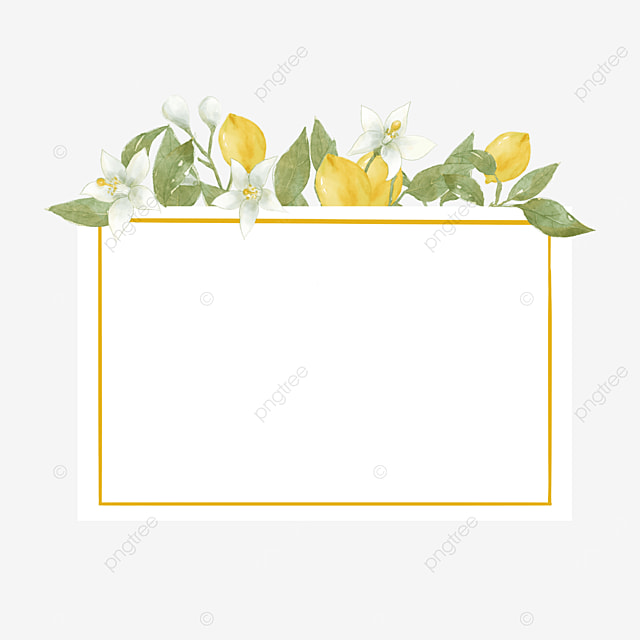 creative lemon border leaves