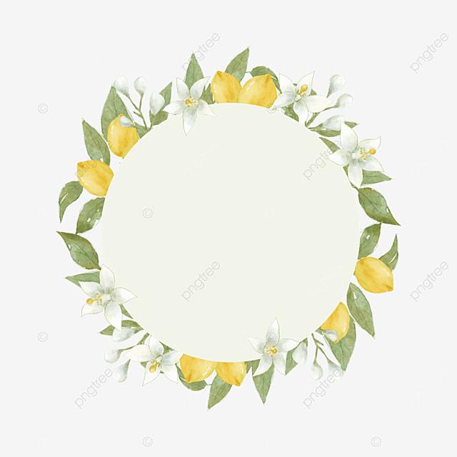 creative lemon border lemon flower