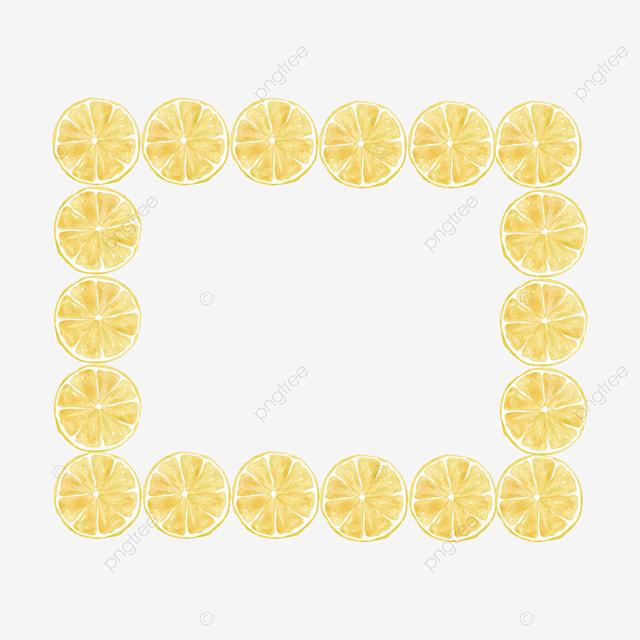creative lemon border lemon slices