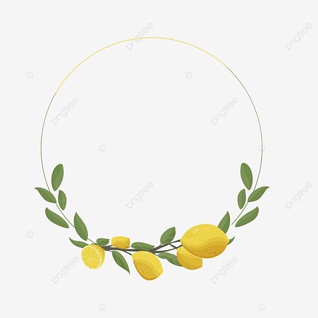 creative round lemon border