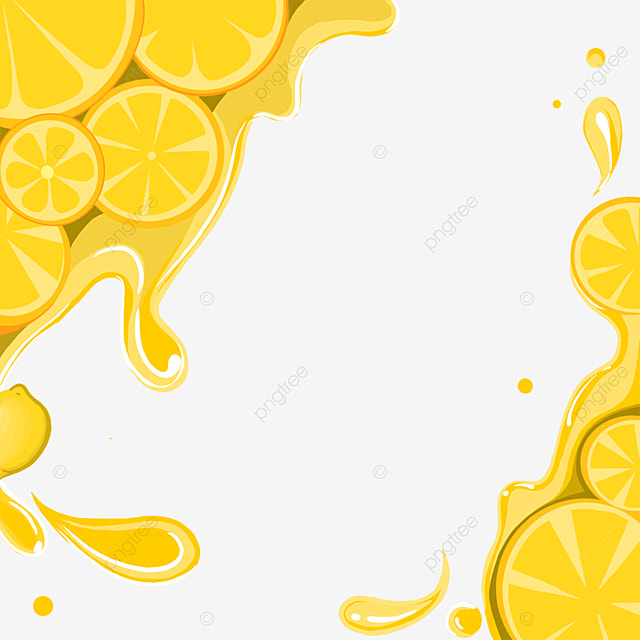 creative water drop lemon border