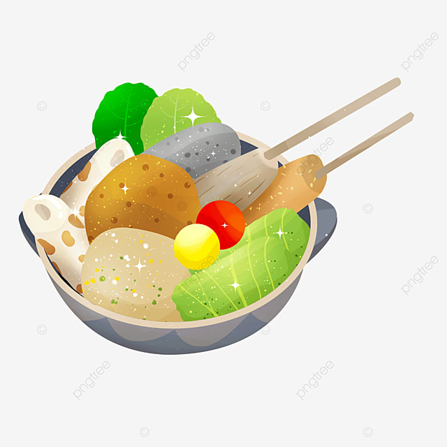 fish cakes konjac skewers vegetables delicious oden