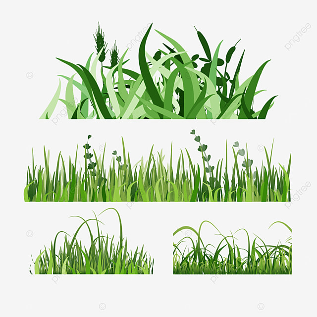 flat style spring easter green grass