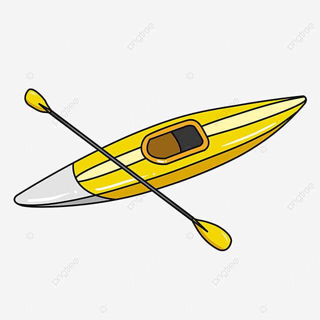 gold grey pointed single kayak clip art
