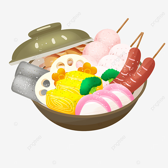 hot pot cuisine fish cake tamagoyaki gourmet japanese oden