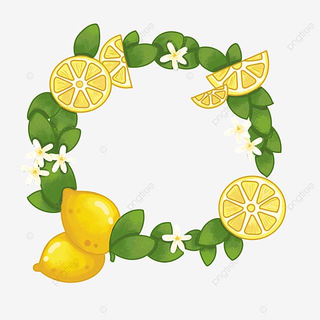 lemon flower round border