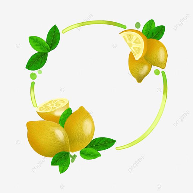 lemon leaf round border