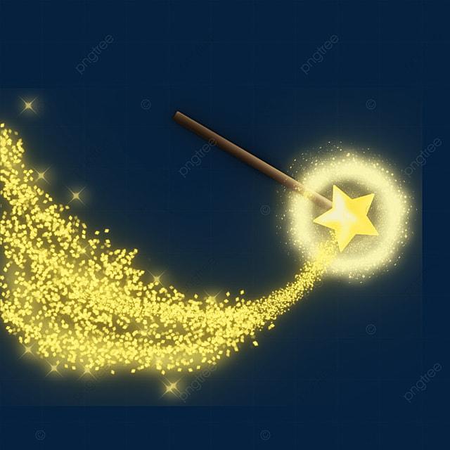 magic wand golden star