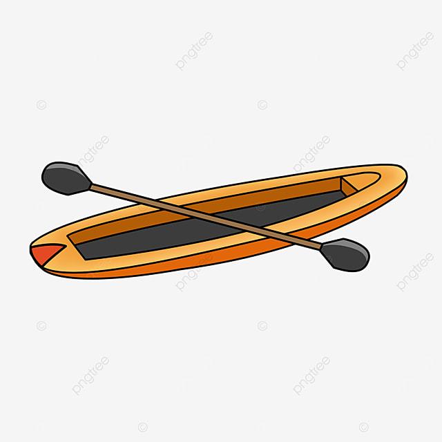 orange yellow kayak clip art