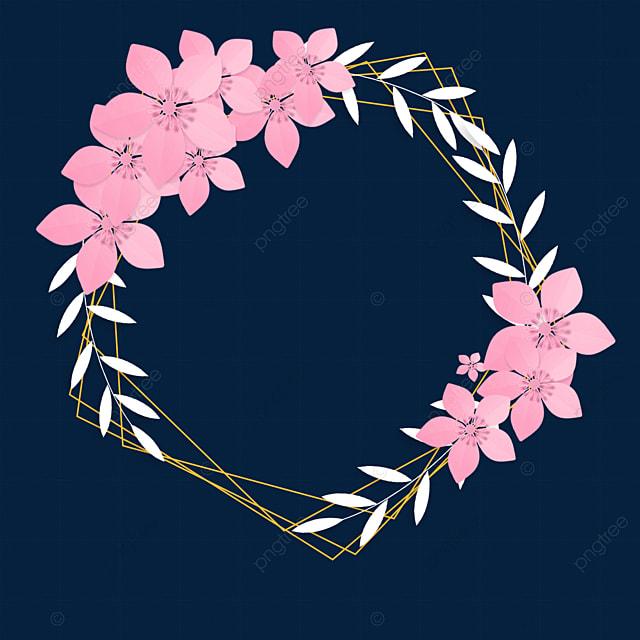 paper cut floral deep pink wedding border