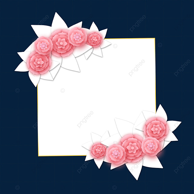 paper cut floral gradient wedding border